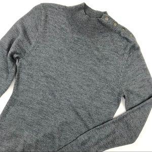 JNY Gray Merino Wool Lightweight Sweater Dress